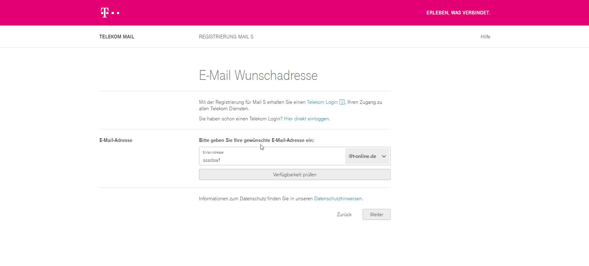 Telekom/E Mail-Kontakt